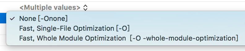 Swift Optimization Level