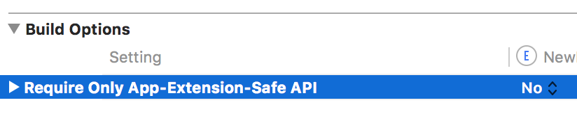 iOS Extension not safe API